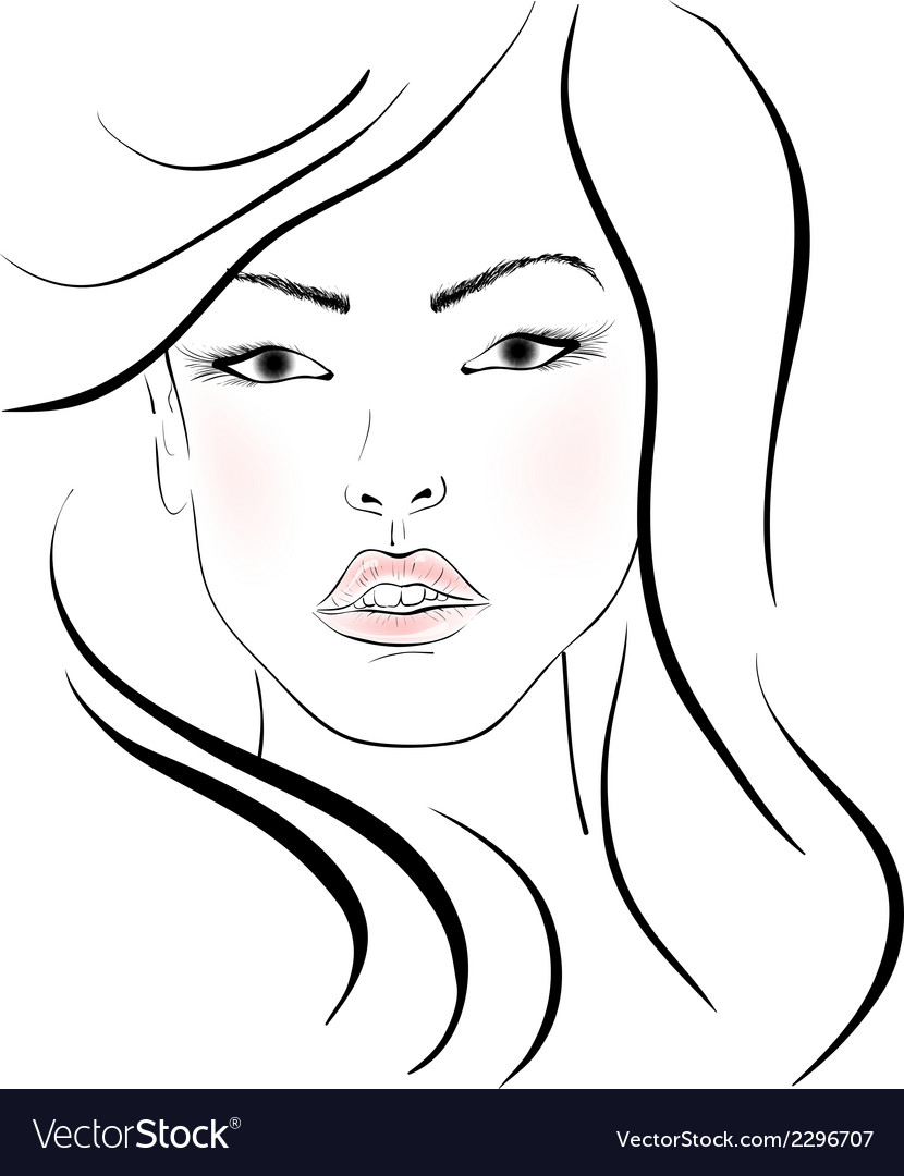 The beautiful girl vector | Price: 1 Credit (USD $1)