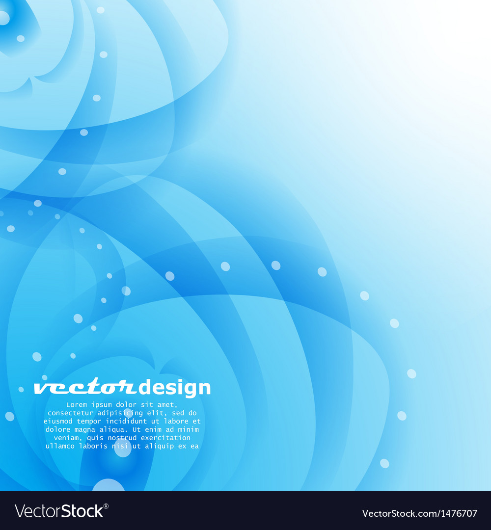 Blue water with bubbles background vector | Price: 1 Credit (USD $1)