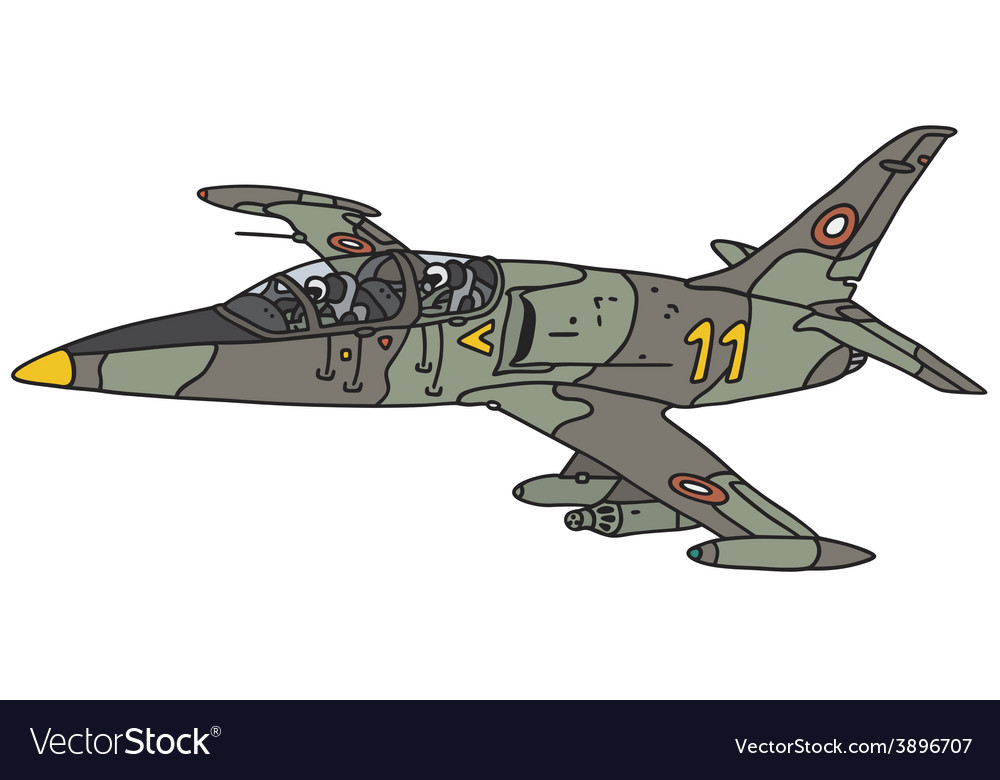 Camouflage jet aircraft vector | Price: 1 Credit (USD $1)