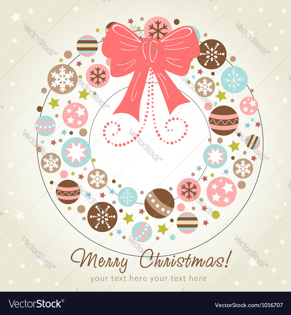 Creative design christmas wreath vector | Price: 1 Credit (USD $1)