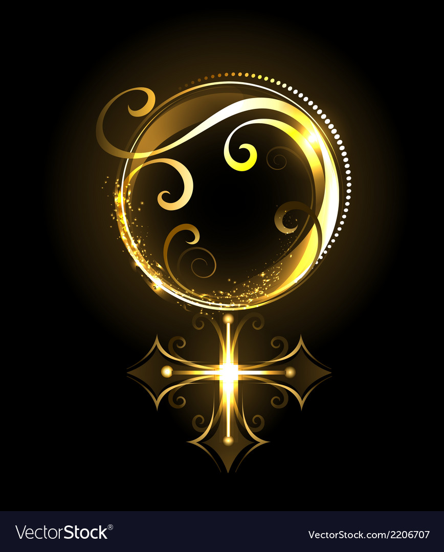 Golden symbol of venus vector | Price: 1 Credit (USD $1)