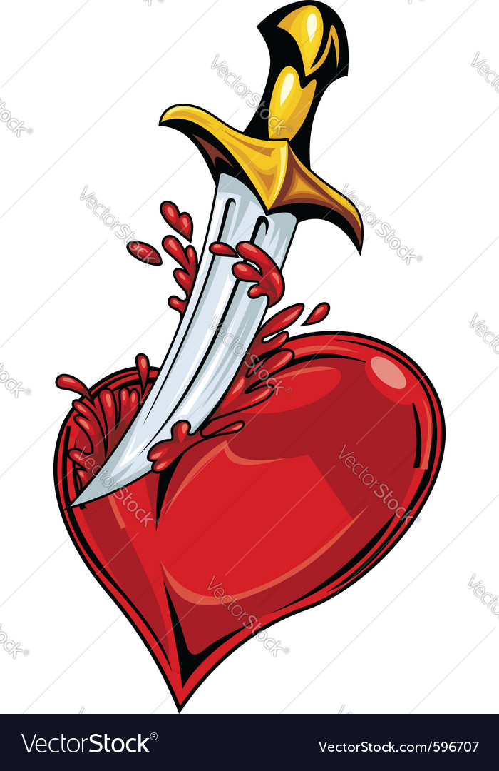 Heart with sword vector | Price: 3 Credit (USD $3)