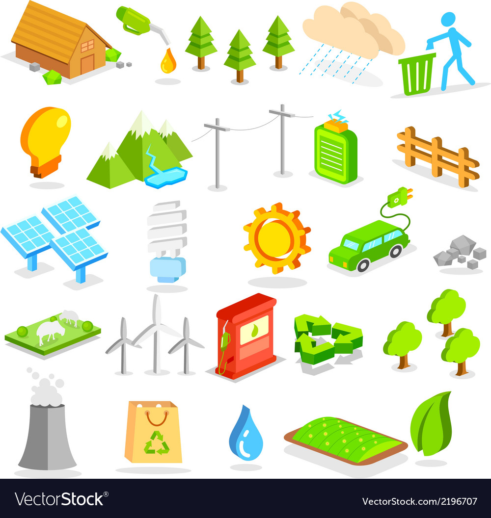 Isometric environment icon vector | Price: 1 Credit (USD $1)