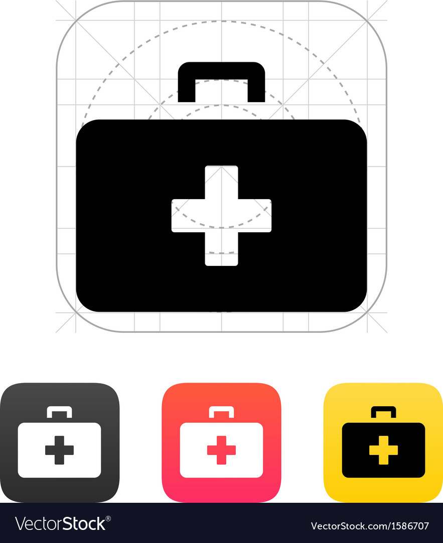 Medical case icon vector | Price: 1 Credit (USD $1)
