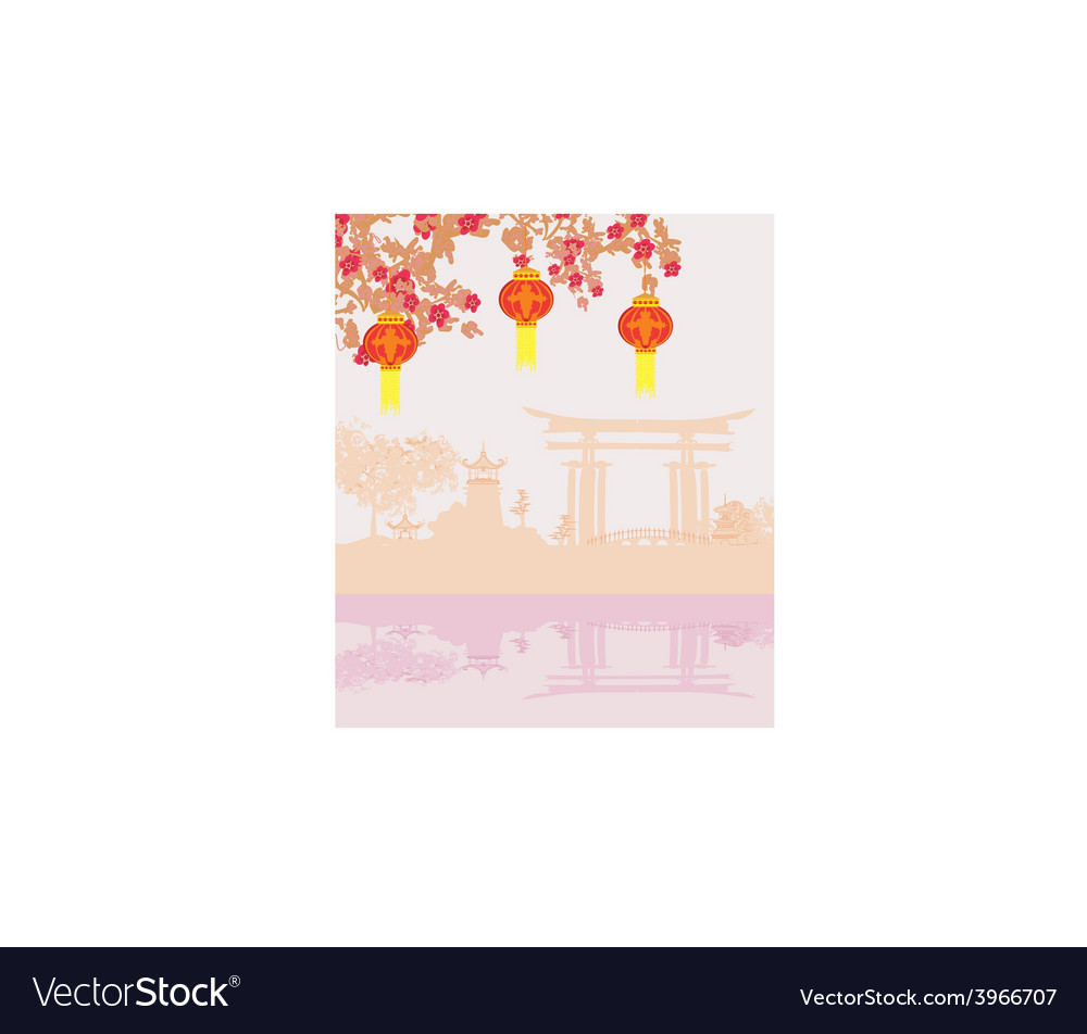 Mid-autumn festival for chinese new year vector | Price: 1 Credit (USD $1)