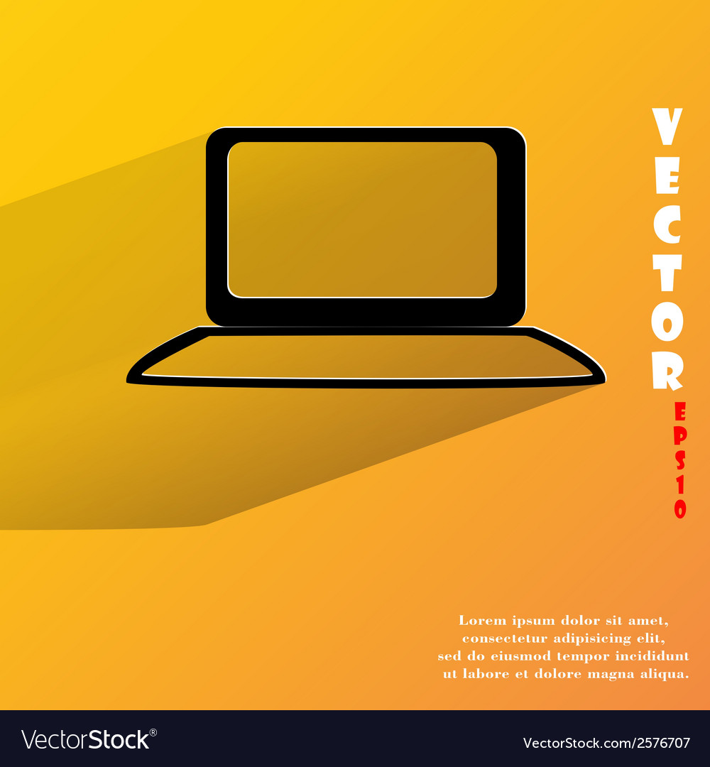 Notebook flat modern web button with long shadow vector | Price: 1 Credit (USD $1)