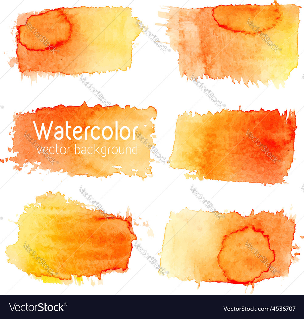 Set of watercolor background with paper texture vector | Price: 1 Credit (USD $1)