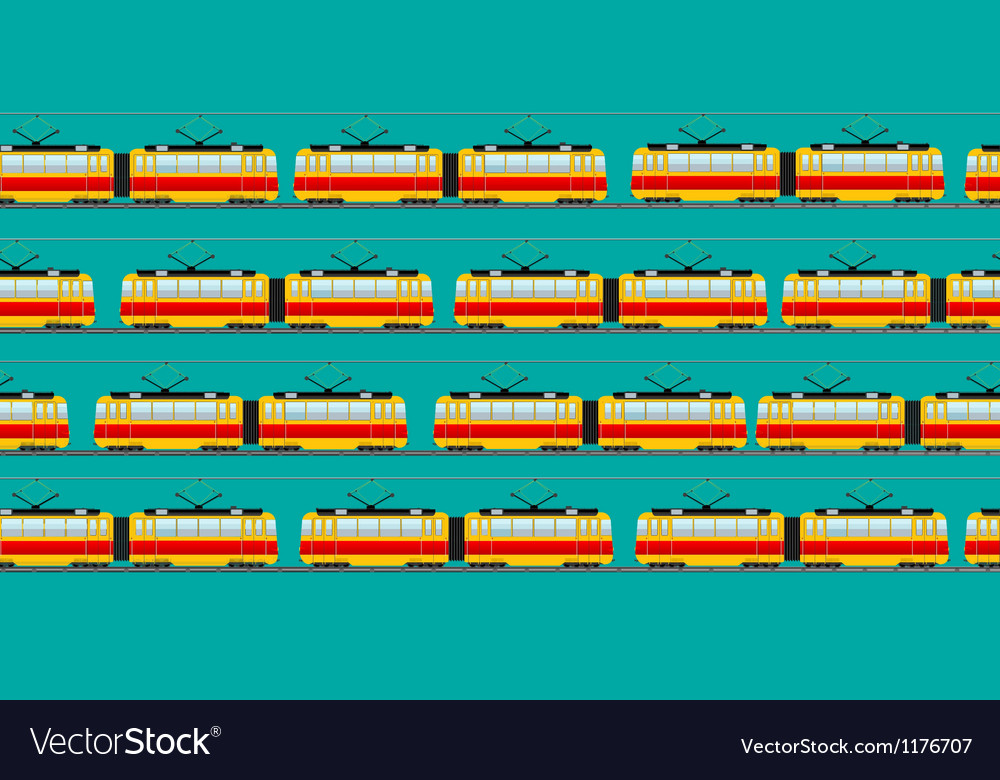 Vintage tram car pattern vector | Price: 1 Credit (USD $1)
