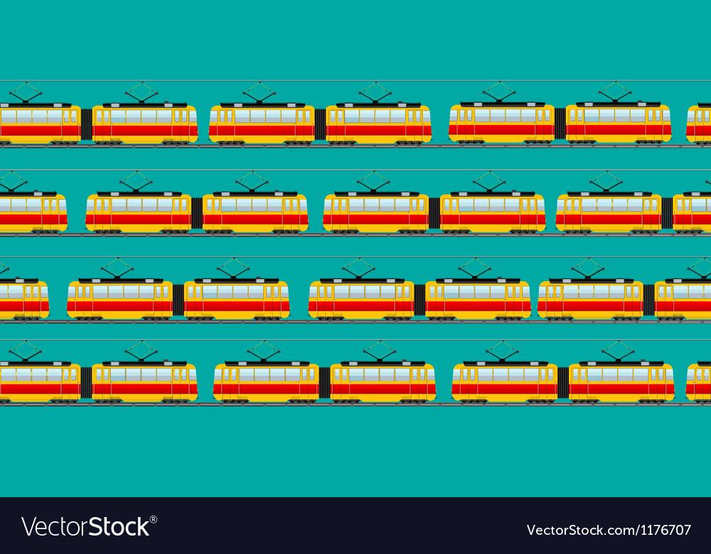 Vintage tram car pattern vector | Price: 1 Credit (USD $1)