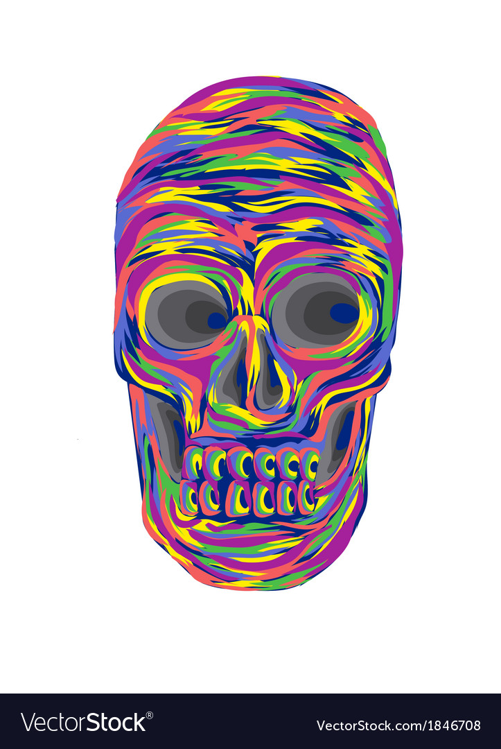 Color full skull vector | Price: 1 Credit (USD $1)