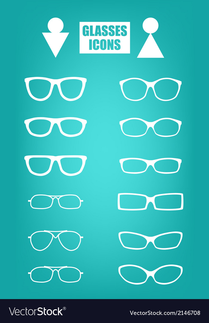 Glasses set vector | Price: 1 Credit (USD $1)