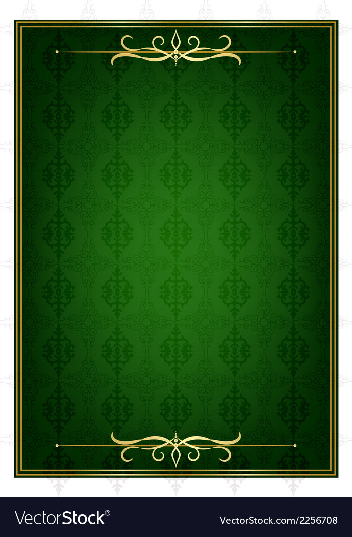 Green background and golden frame vector | Price: 1 Credit (USD $1)