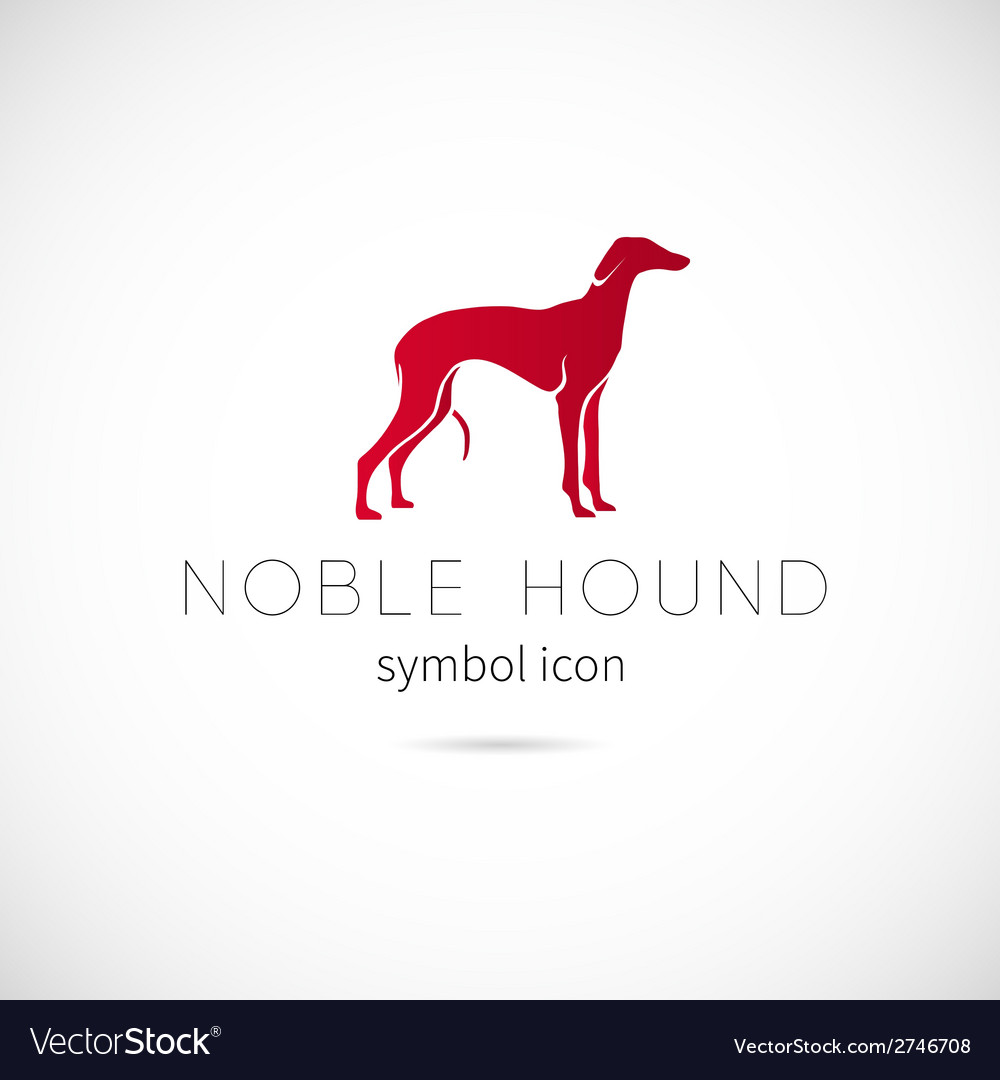 Noble hound silhouette symbol icon or label vector | Price: 1 Credit (USD $1)