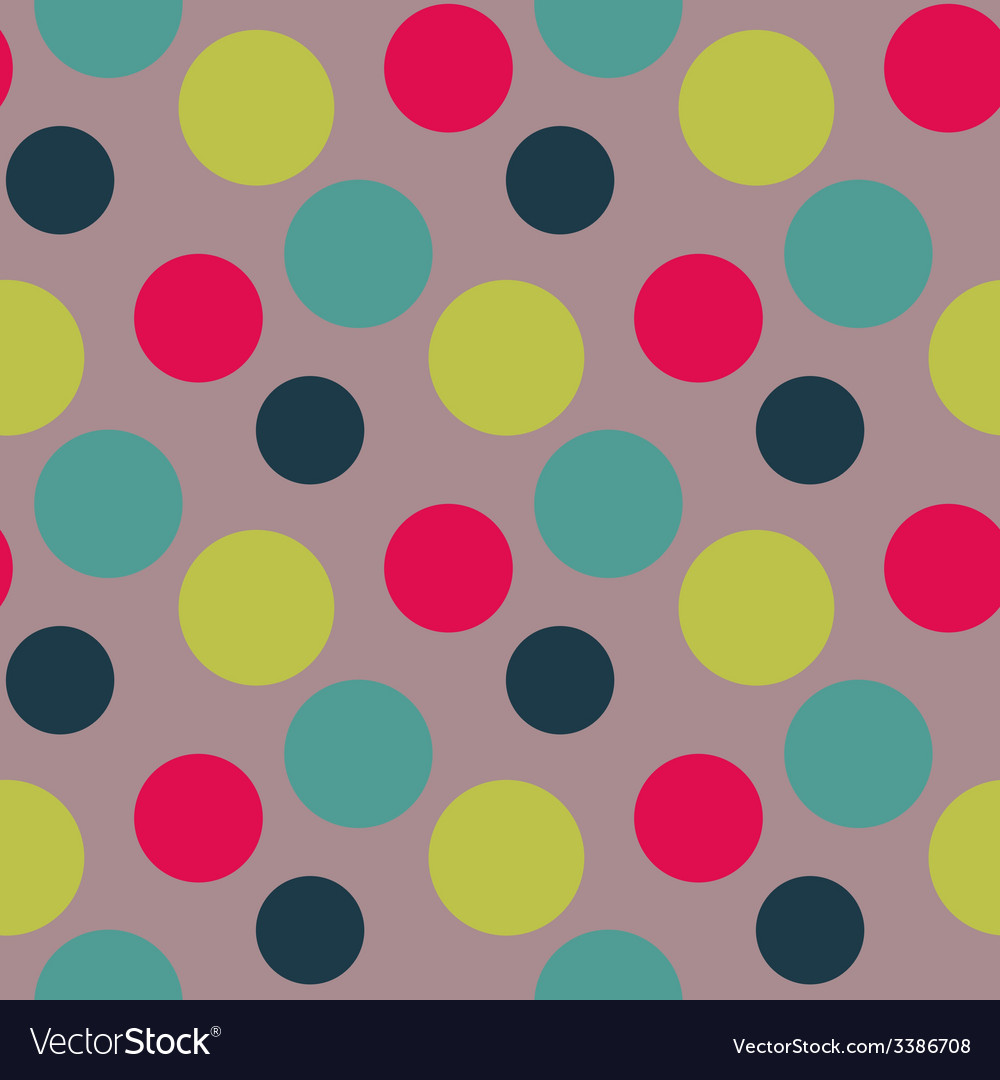 Pattern with green grey polka dots vector | Price: 1 Credit (USD $1)