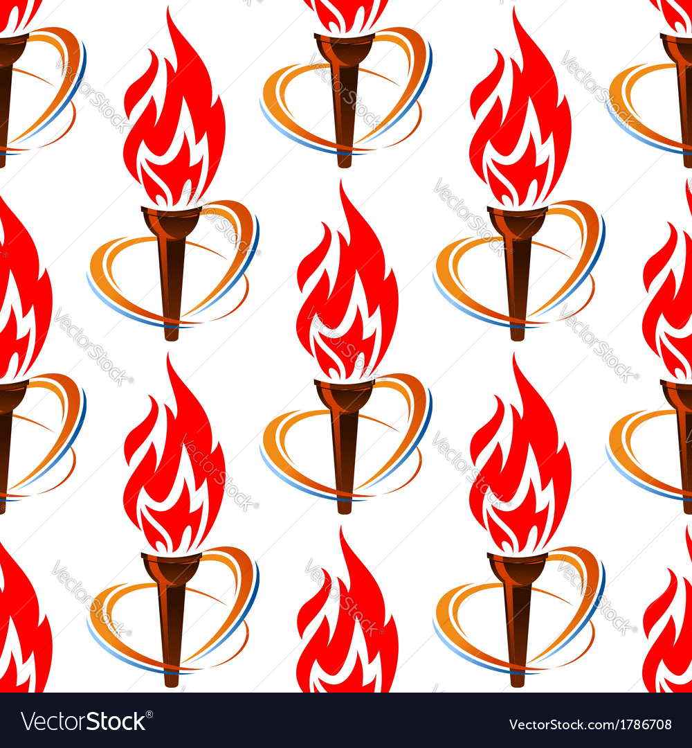 Seamless pattern with torch fire vector | Price: 1 Credit (USD $1)