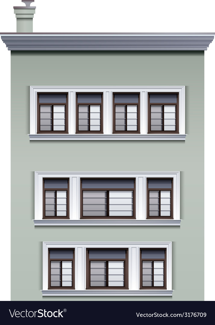 A multi-story building vector | Price: 1 Credit (USD $1)