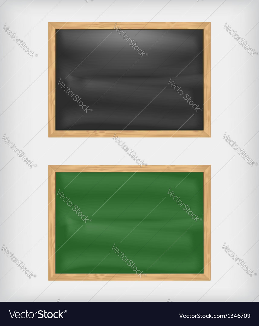 Black and green blank chalkboards vector | Price: 1 Credit (USD $1)