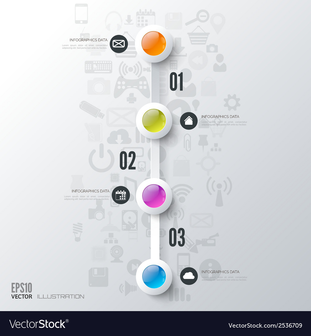 Business step infographic timeline background vector | Price: 1 Credit (USD $1)