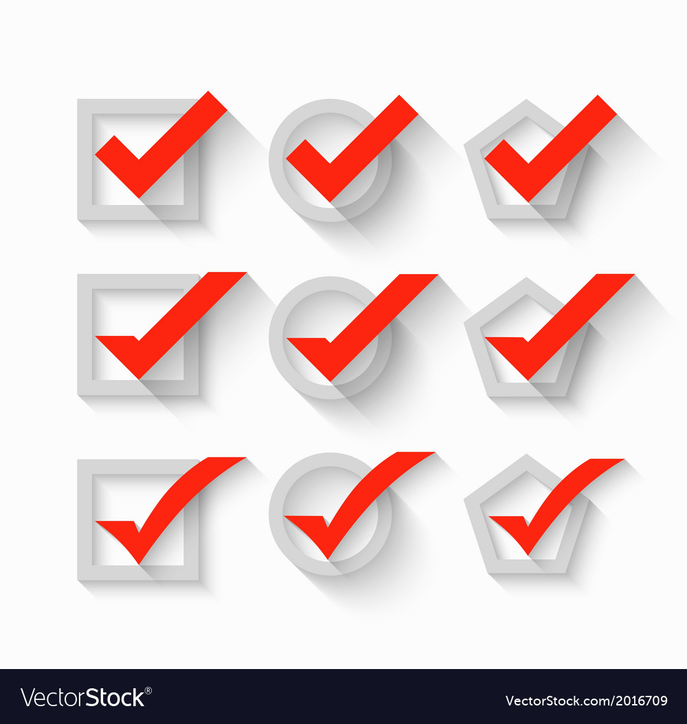 Check mark symbols vector | Price: 1 Credit (USD $1)