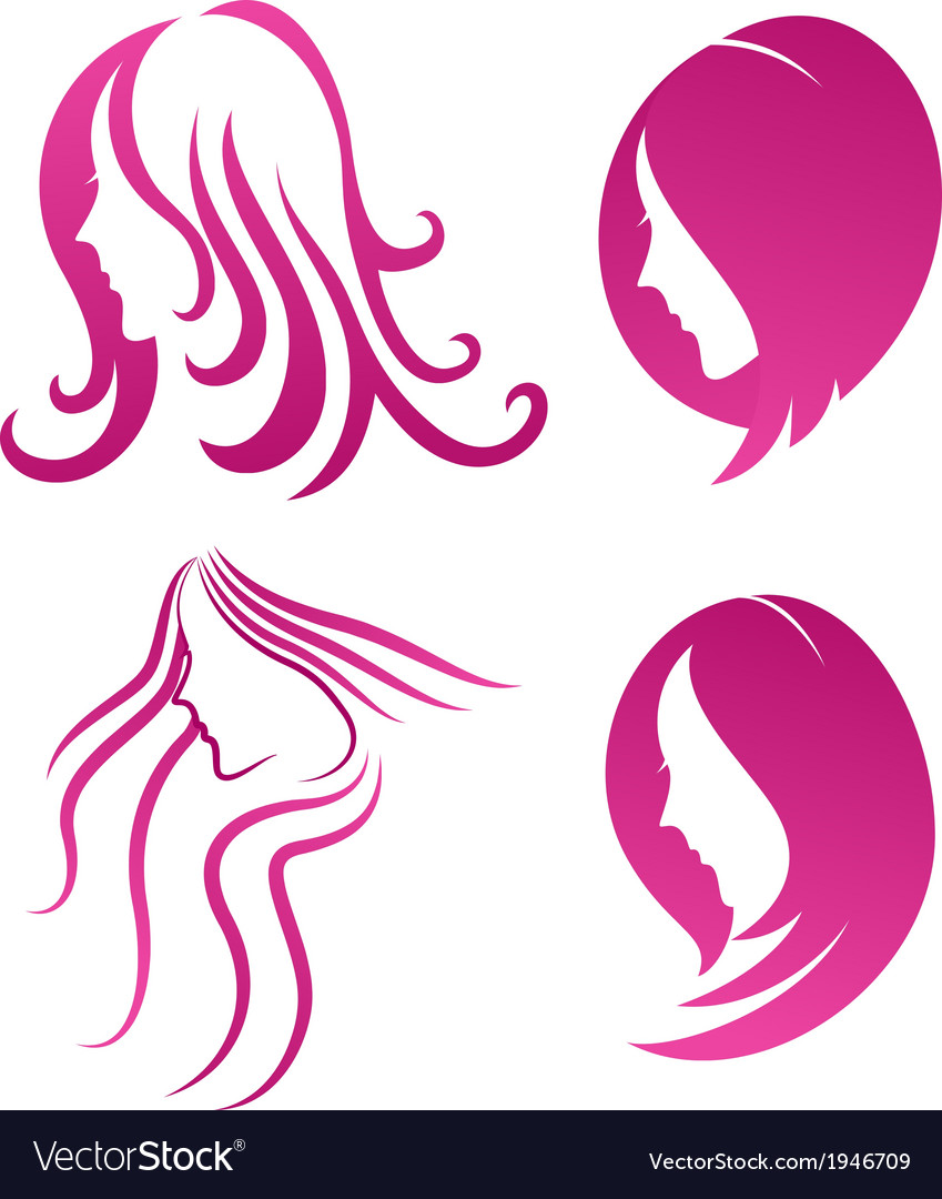 Fashion icon symbol of female beauty on purple vector | Price: 1 Credit (USD $1)