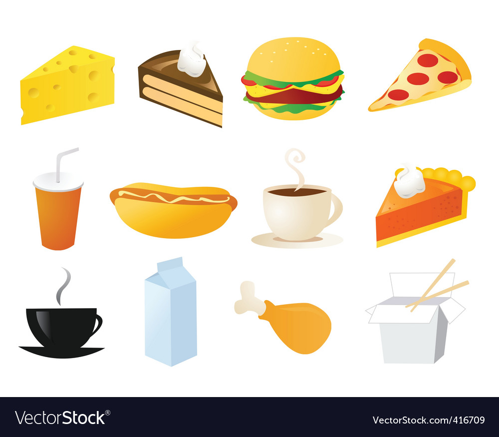 Foods and snacks vector | Price: 1 Credit (USD $1)