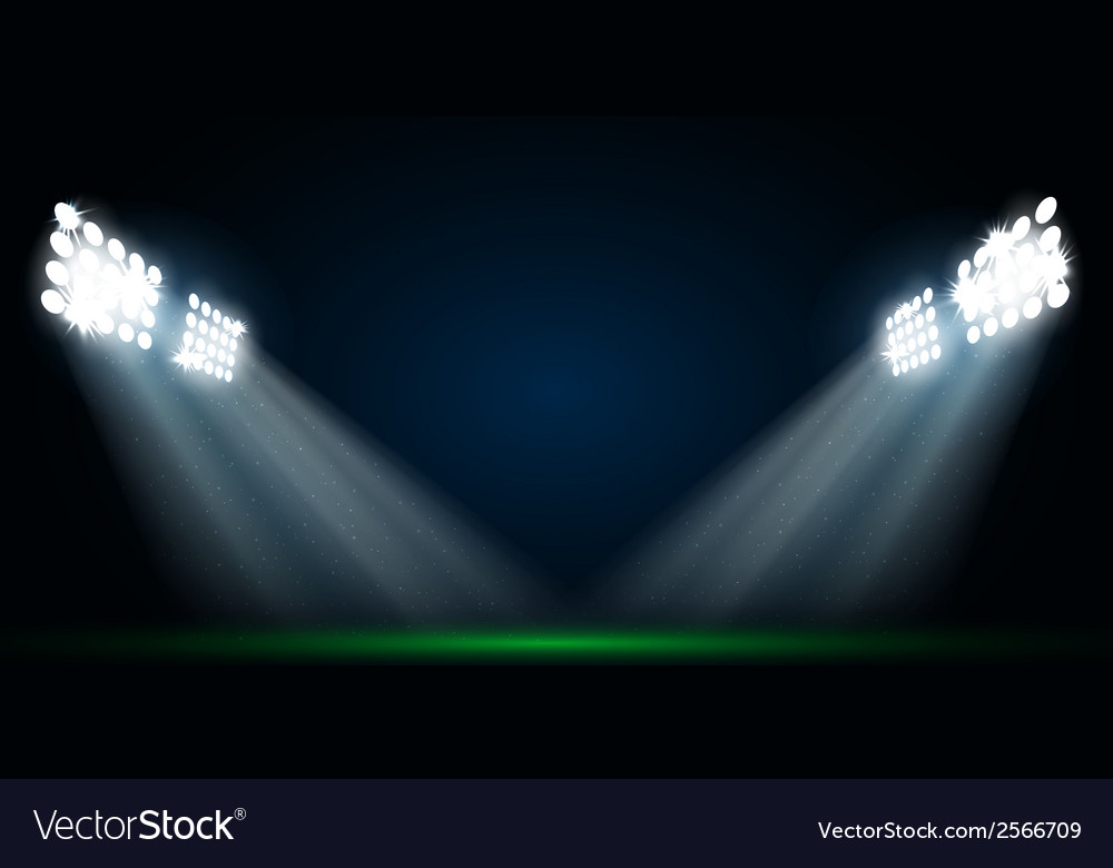 Four spotlights on a football field vector | Price: 1 Credit (USD $1)