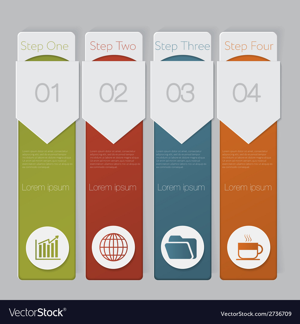 Infographic design number banners template graphic vector | Price: 1 Credit (USD $1)