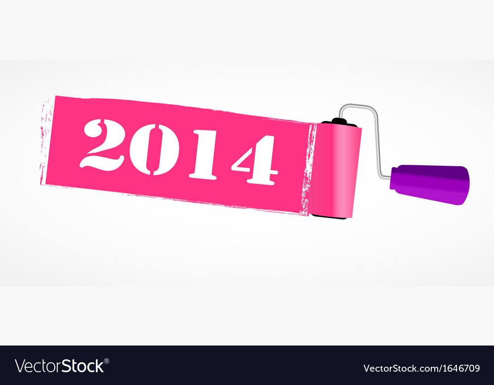 Paint roll 2014 new year background vector   Price: 1 Credit (USD $1)