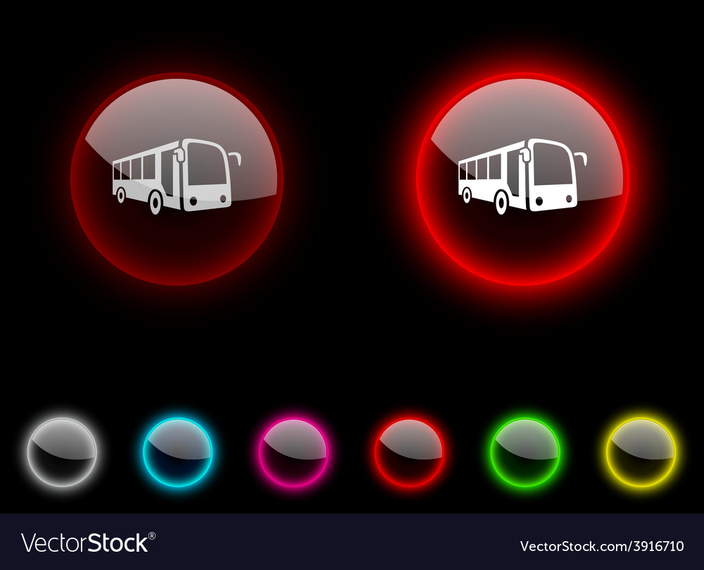 Bus button vector | Price: 1 Credit (USD $1)