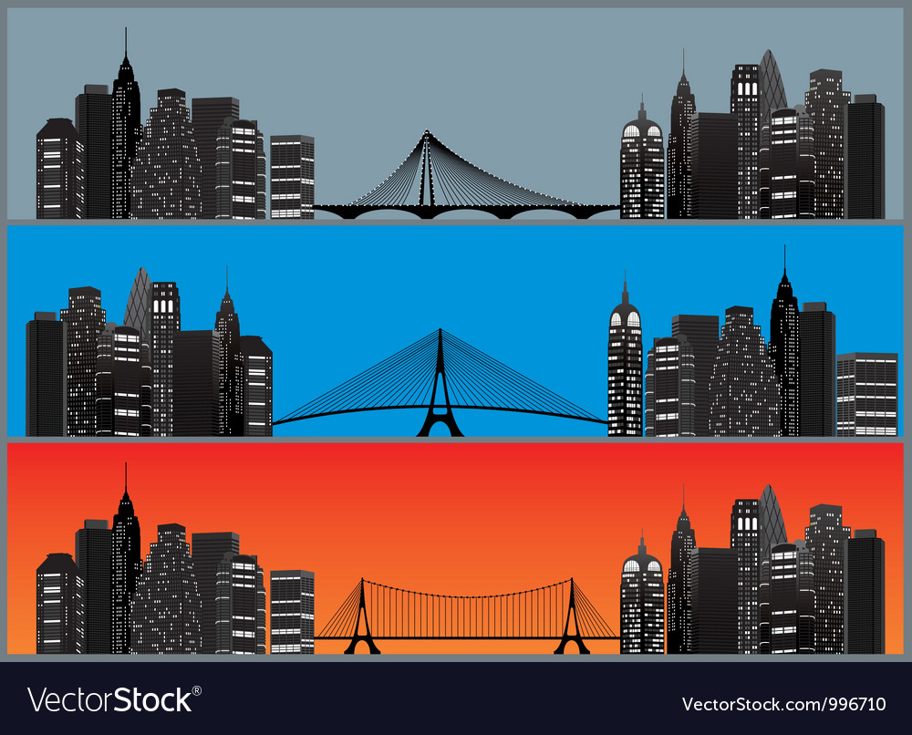 City set color vector | Price: 1 Credit (USD $1)