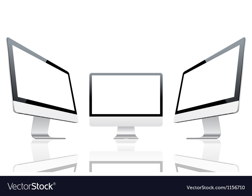 Computer monitors vector | Price: 1 Credit (USD $1)