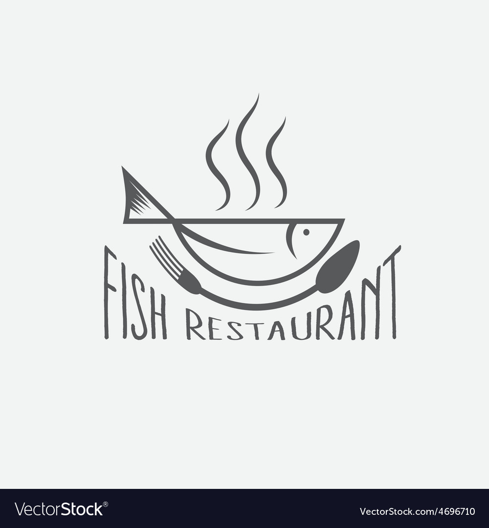 Fish in the form of bowlfish restaurant vector | Price: 1 Credit (USD $1)