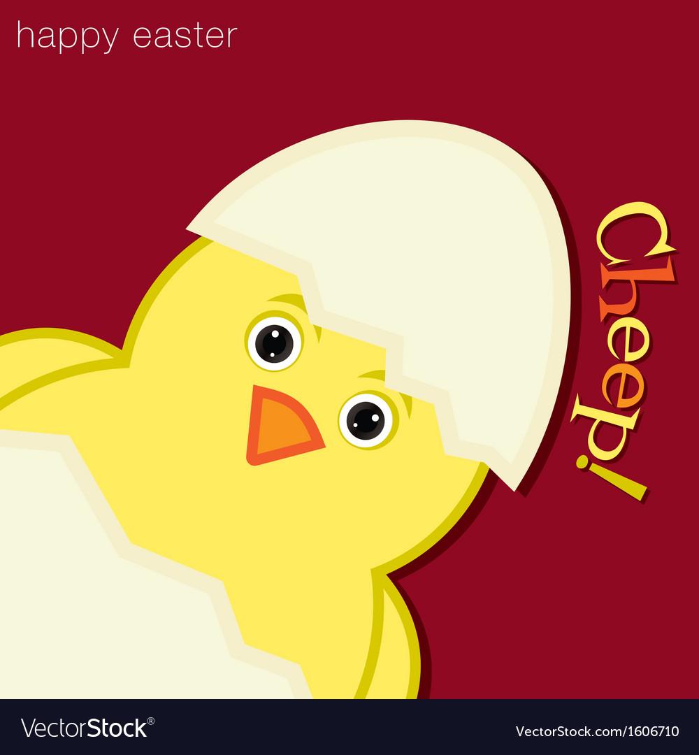 Happy easter bird vector   Price: 1 Credit (USD $1)