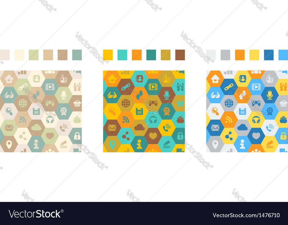 Internet cells seamless pattern vector | Price: 1 Credit (USD $1)