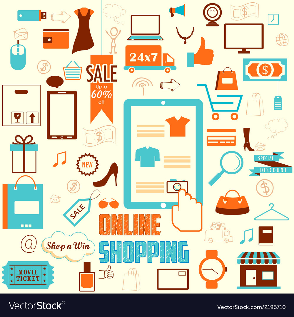 Online shopping concept vector | Price: 1 Credit (USD $1)