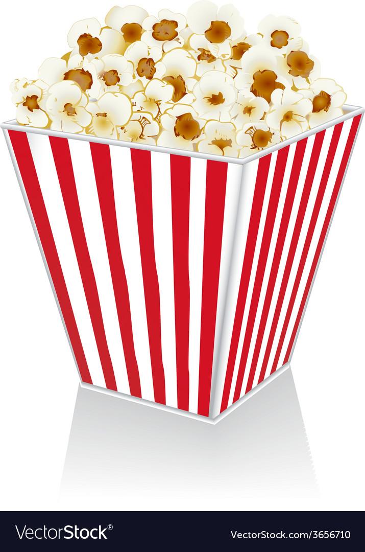 Popcorn in a box vector | Price: 1 Credit (USD $1)