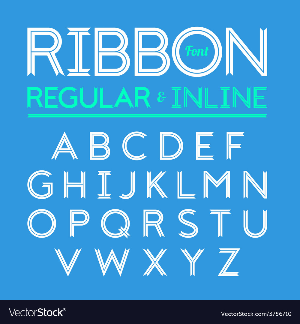 Ribbon font vector | Price: 1 Credit (USD $1)