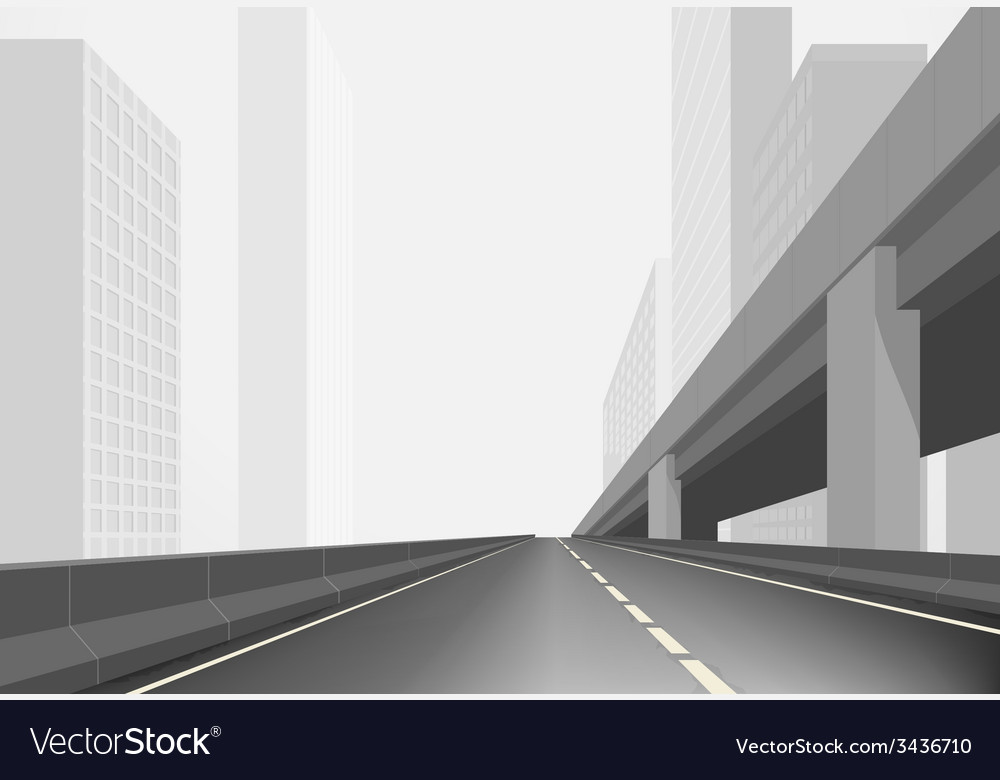 Road in a town vector | Price: 1 Credit (USD $1)