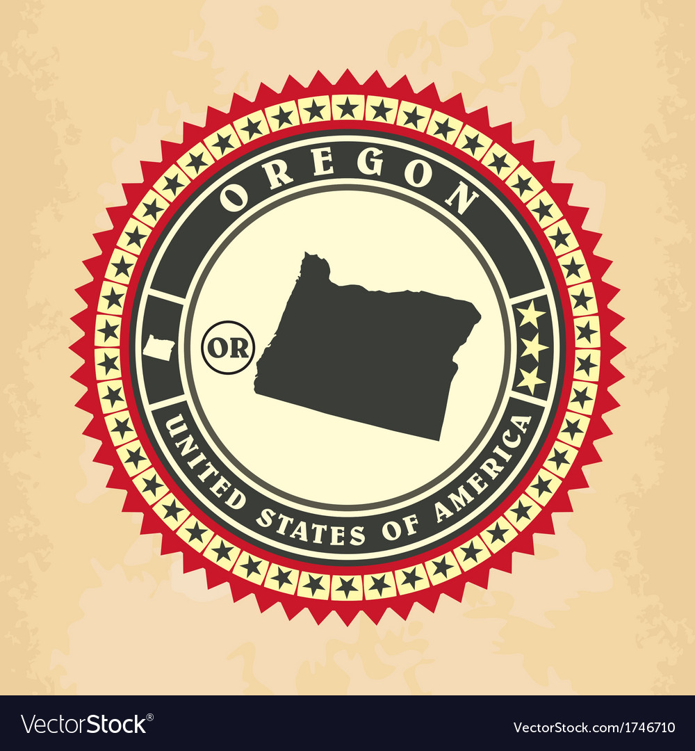 Vintage label-sticker cards of oregon vector | Price: 1 Credit (USD $1)