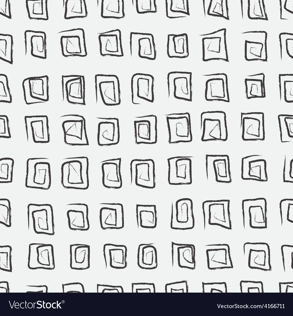 Doodle abstract pattern with squares black and vector | Price: 1 Credit (USD $1)