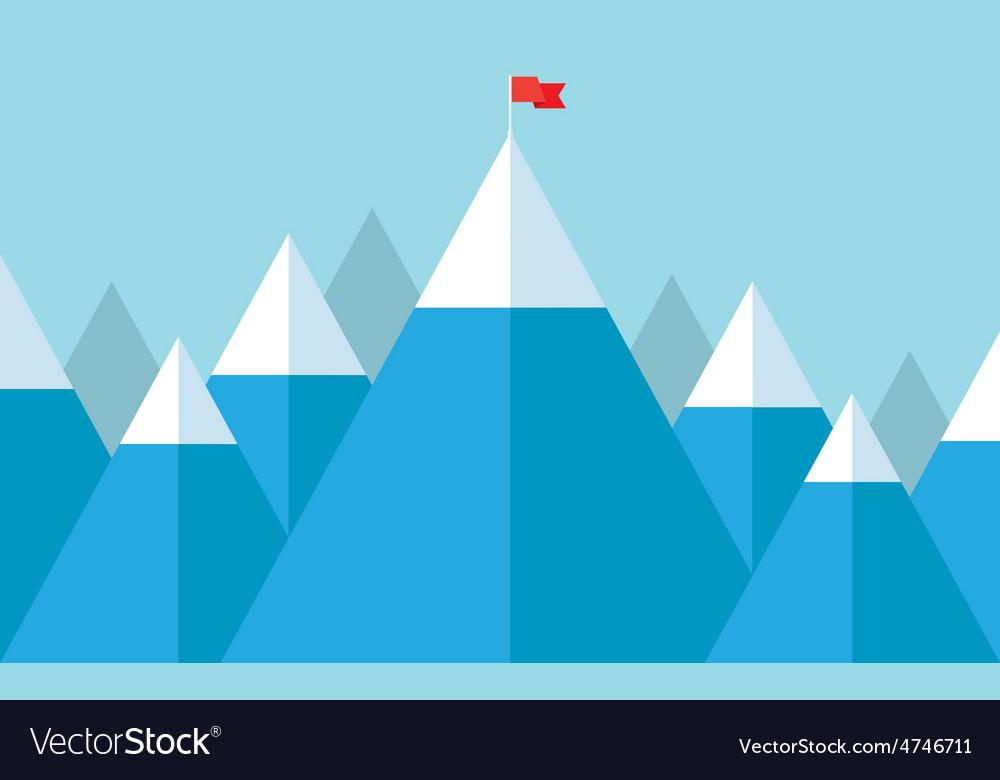 Flag on the peak vector   Price: 1 Credit (USD $1)