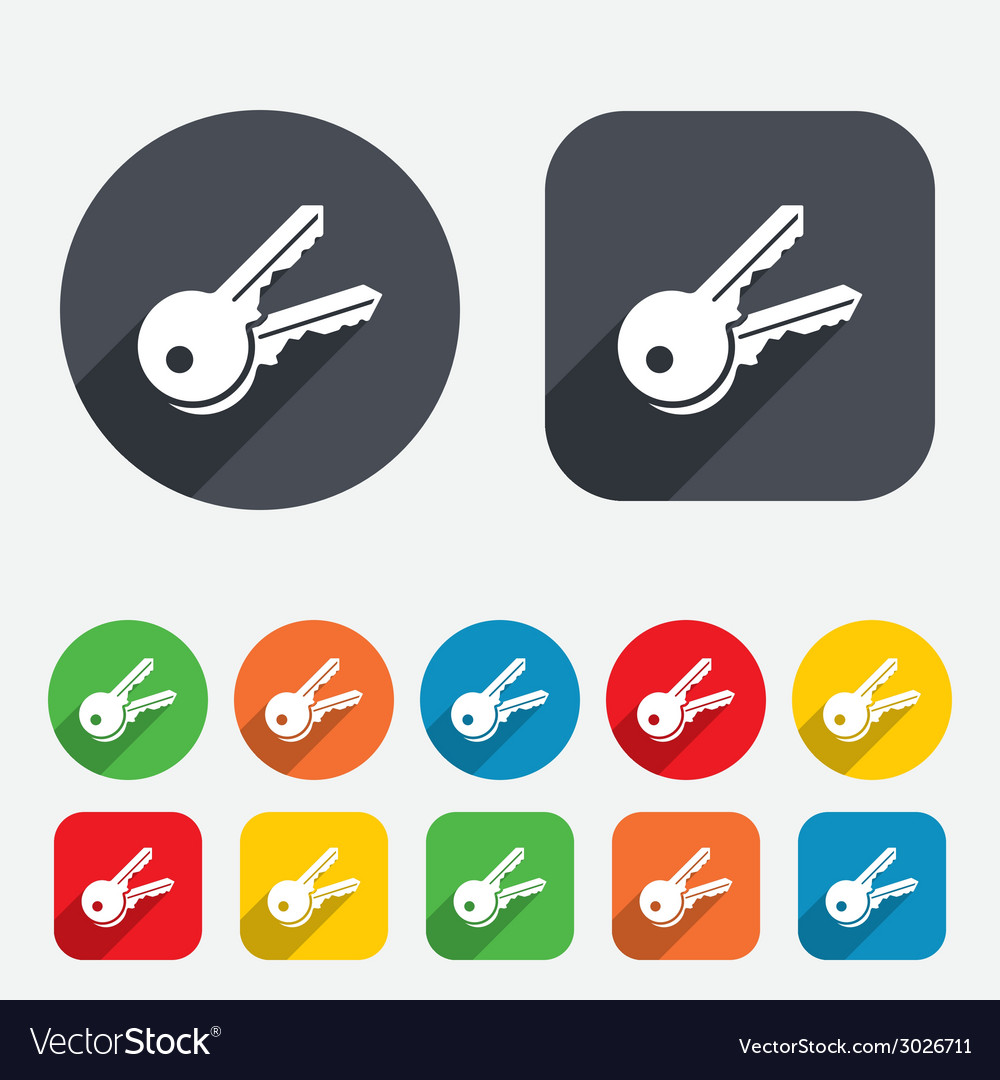 Keys sign icon unlock tool symbol vector | Price: 1 Credit (USD $1)