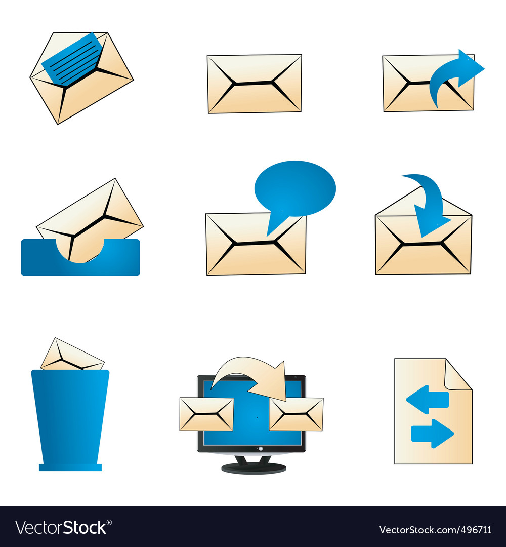 Mailing icons vector | Price: 1 Credit (USD $1)