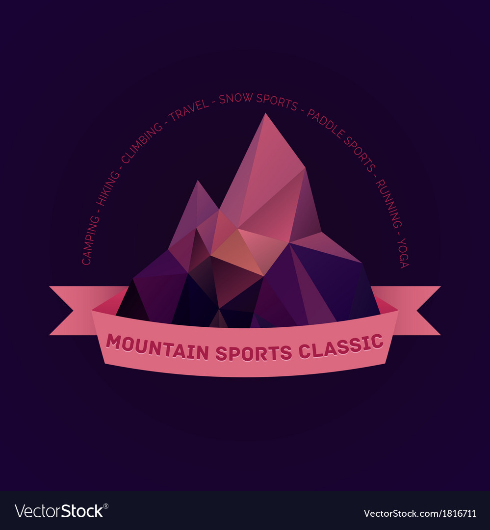 Mountain themed outdoors emblem logo vector | Price: 1 Credit (USD $1)