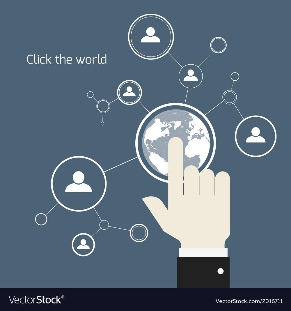Network concept vector | Price: 1 Credit (USD $1)