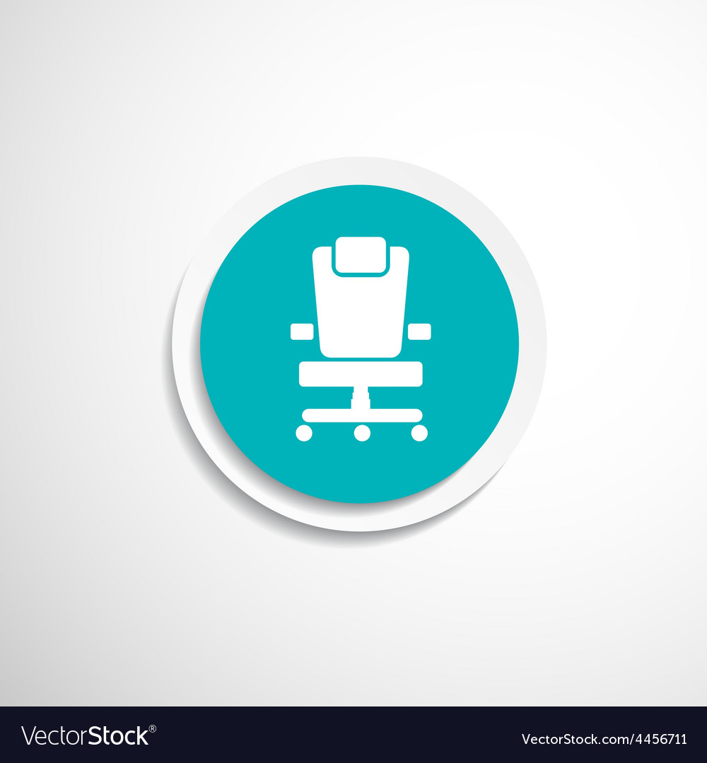 Office chair icon business seat shape vector | Price: 1 Credit (USD $1)