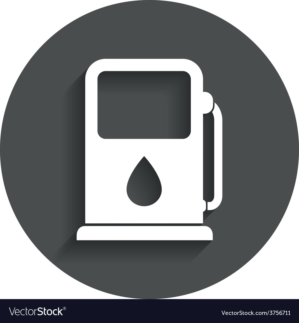 Petrol or gas station icon car fuel sign vector | Price: 1 Credit (USD $1)