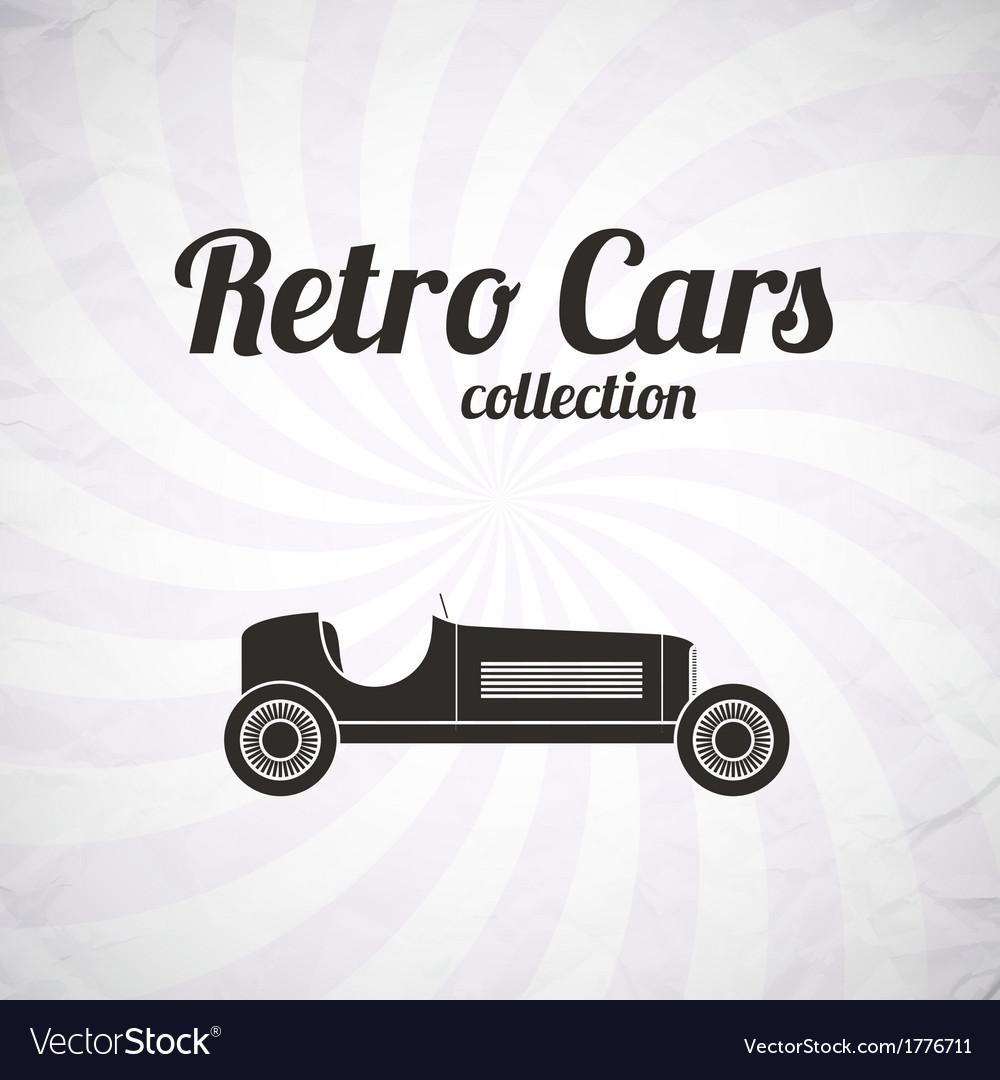 Retro sport racing car vintage collection vector | Price: 1 Credit (USD $1)