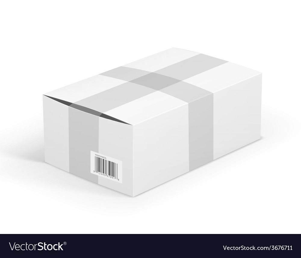 White parcel vector | Price: 1 Credit (USD $1)