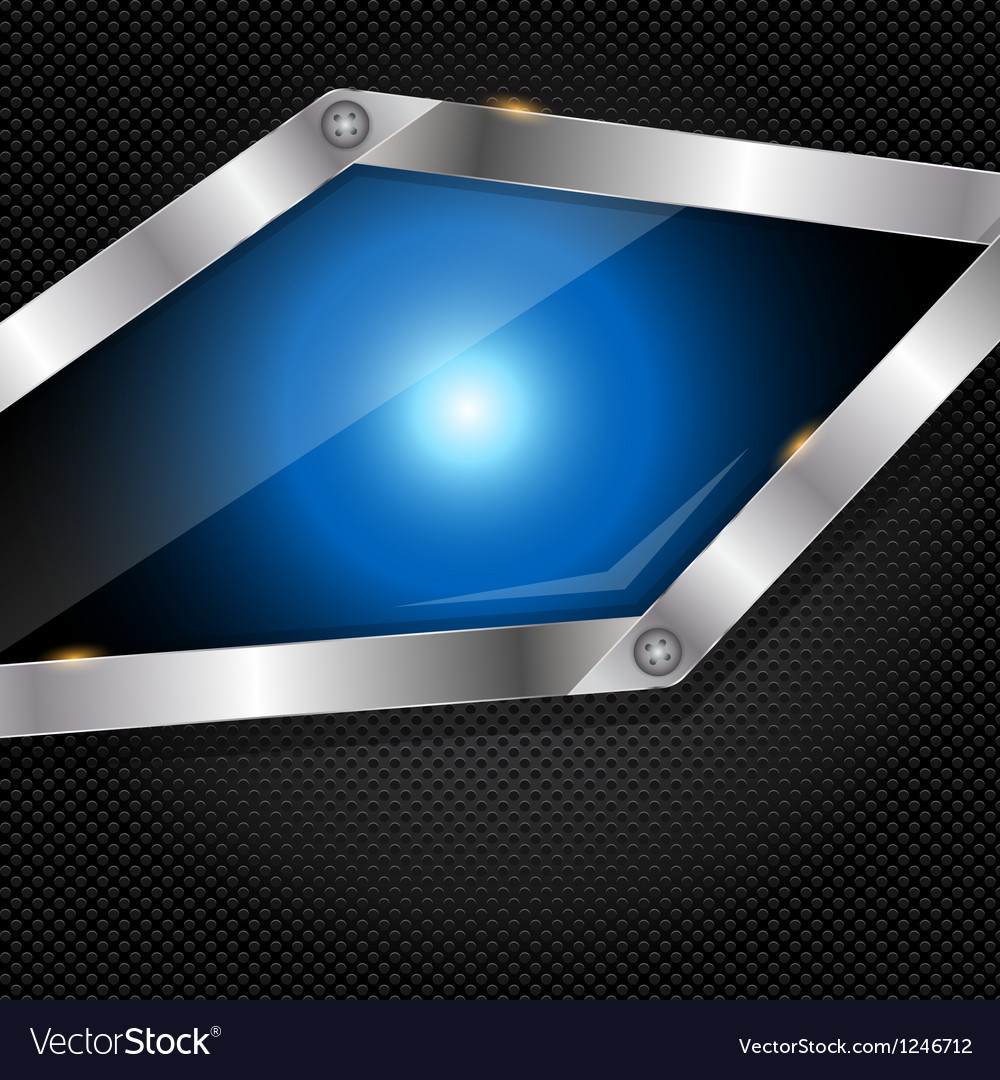 Abstract metal and glass background with frame vector | Price: 1 Credit (USD $1)